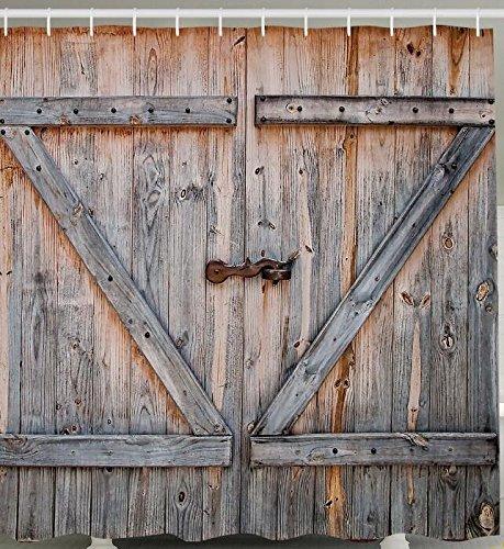 Vecchio Stile Country Americano Porta Del Garage In Legno Per