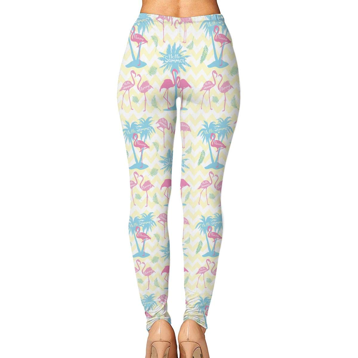 c2f28b7812c6b Amazon.com: Norman&New Women's Womens Pants Pink Flamingo Hello Summer Yoga  Leggings for Workout Running Fitness Sports Gym: Clothing