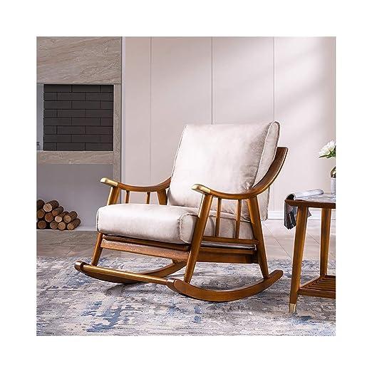HYYTY-Y Silla Mecedora nórdica con sofá, sillón de Tela de ...