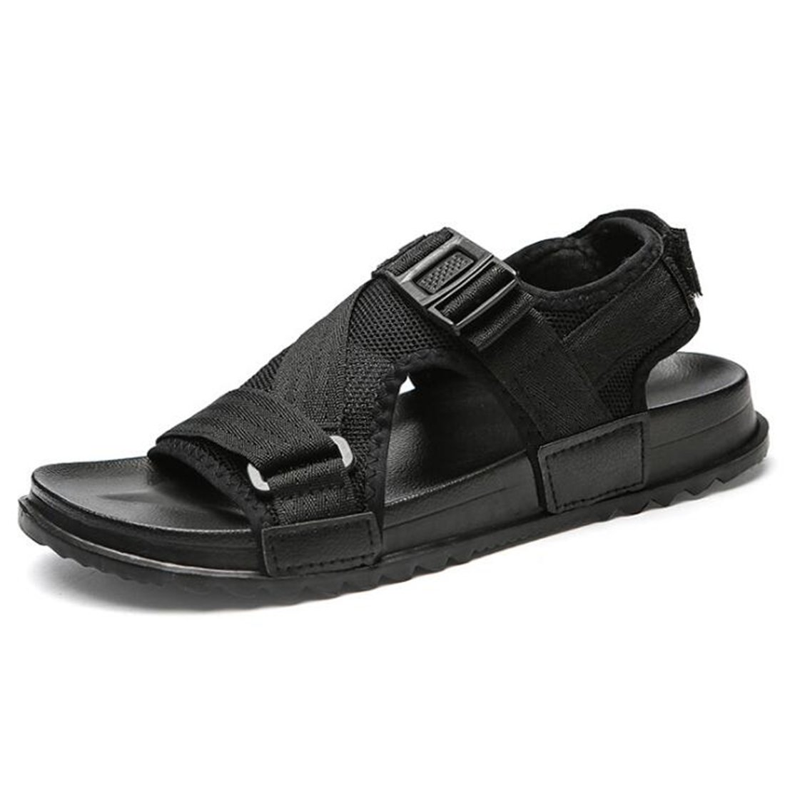 Sommer Atmungsaktive Sandalen der Männer Mode Trend Sandalen und Hausschuhe Outd Black