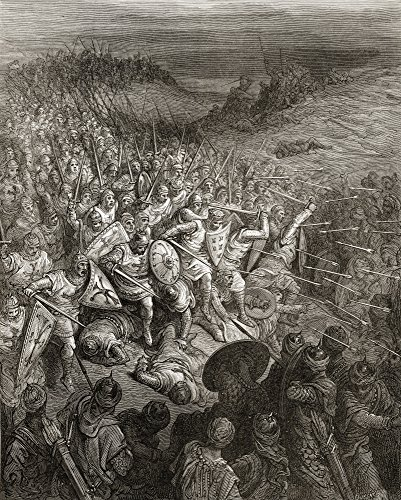Godfrey S Soldiers Drive Through The Muslim Army During The First Crusade 1096 Poster Print (26 x 34) by Design Pics
