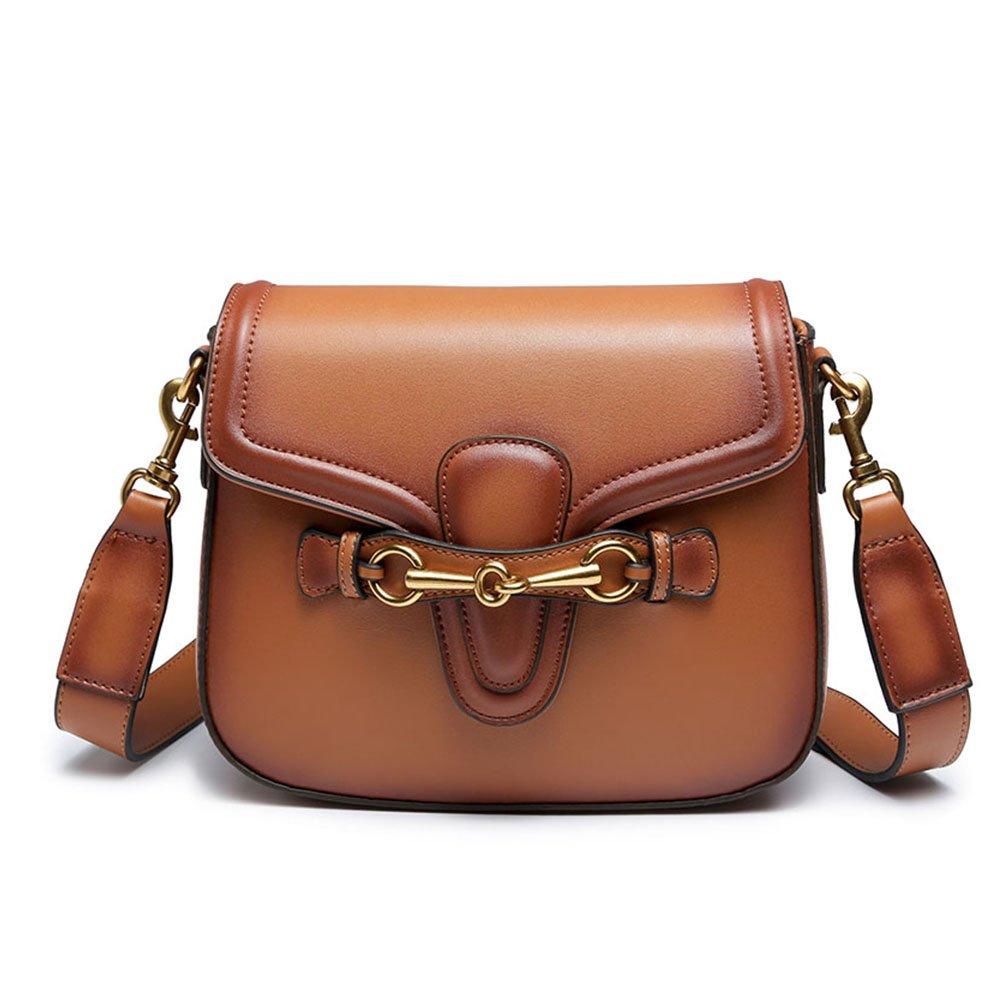 Ophlid Designer Shoulder Bag for Women, Fashion Retro Crossbody Handbag Saddle Bag (BROWN)