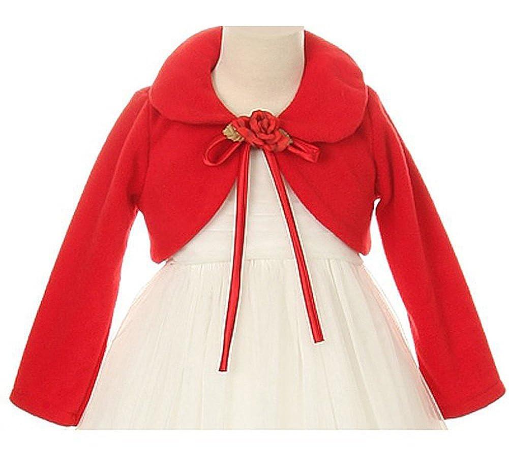 iGirlDress Little Girls Cozy Bolero Jacket Cover Sweater Size 2-12
