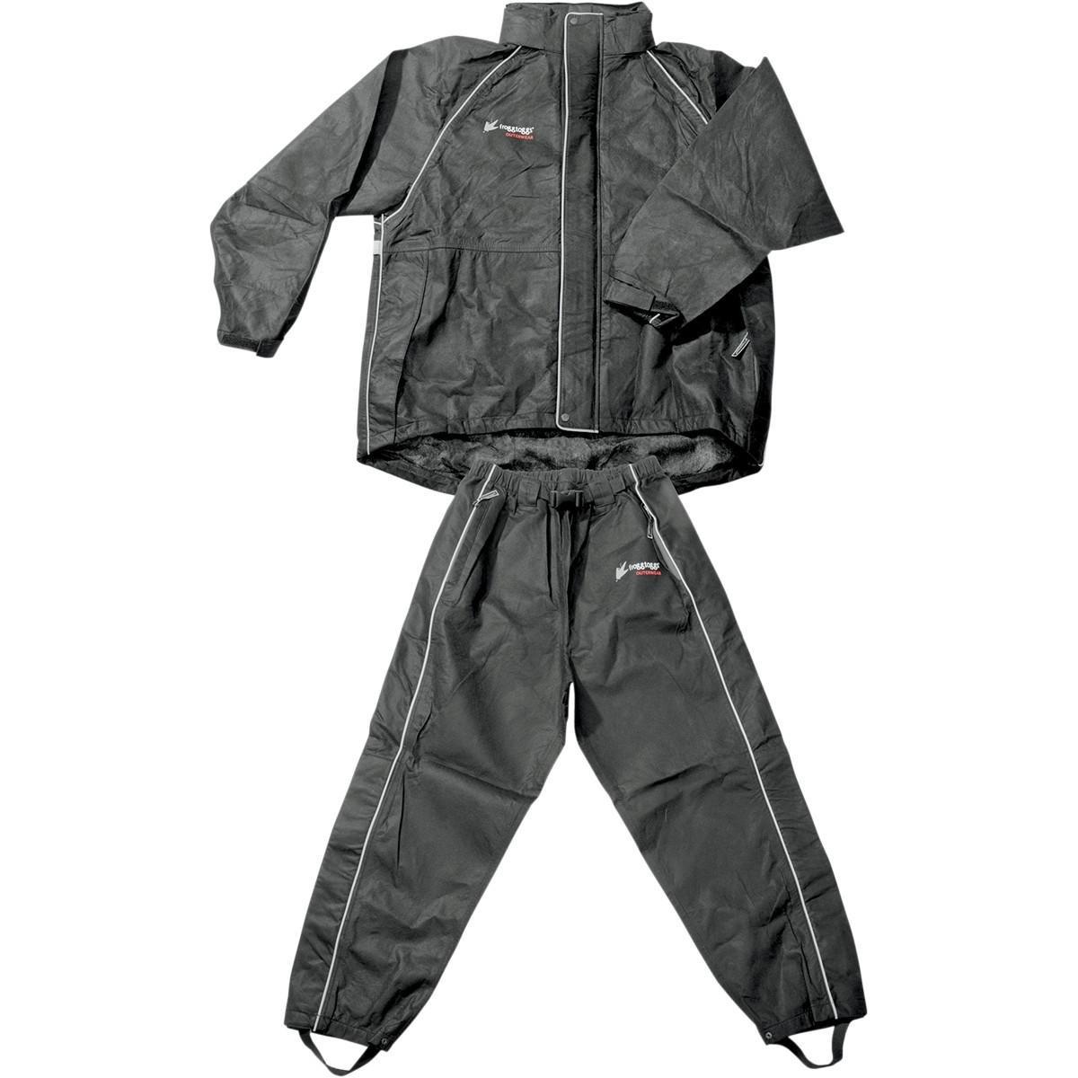 Frogg Toggs Women's Cruisin Toggs Rainsuit (Black, X-Large) - TT10599-01XL