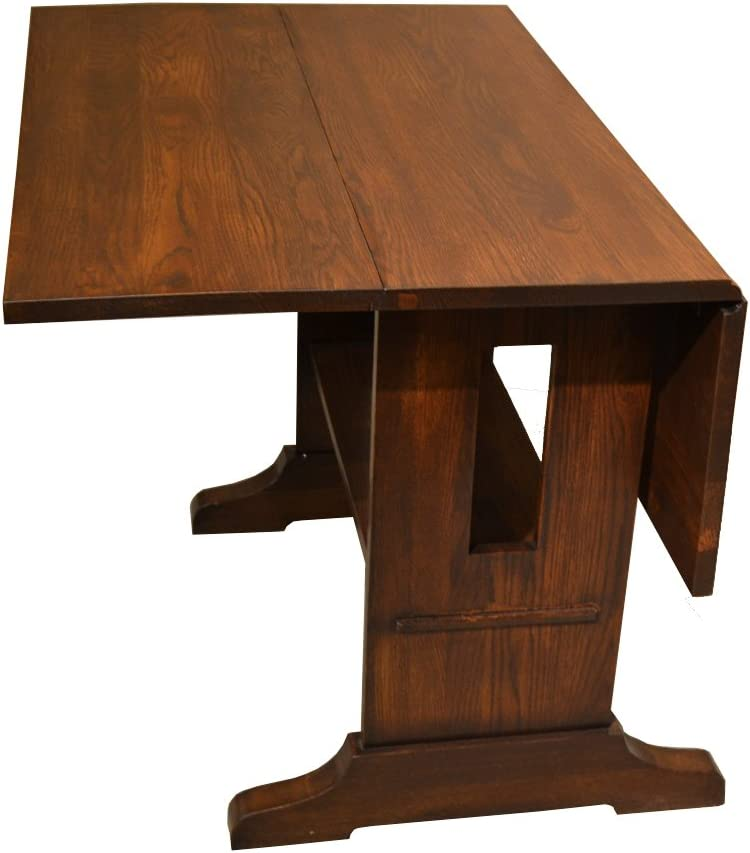 Crafters Weavers Drop Leaf Solid Oak Arts Crafts Dining Table