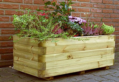 'Fioriera Fioriera Ingo in legno impregnato fioriera fioriera giardino terrazza  montato di Gartenwelt Riegelsberger