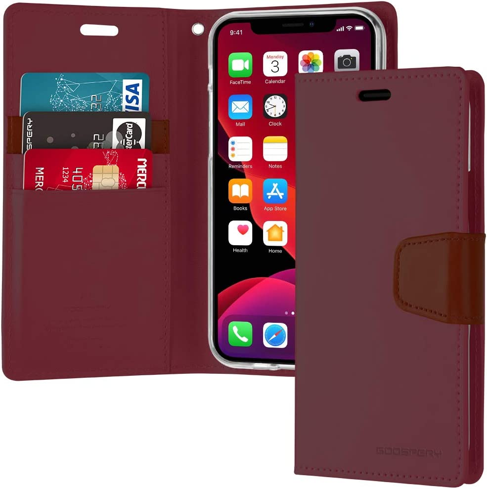 Goospery Sonata Wallet for Apple iPhone 11 Case (6.1 inches) Leather Stand Flip Cover (Wine) IP11-SON-WNE