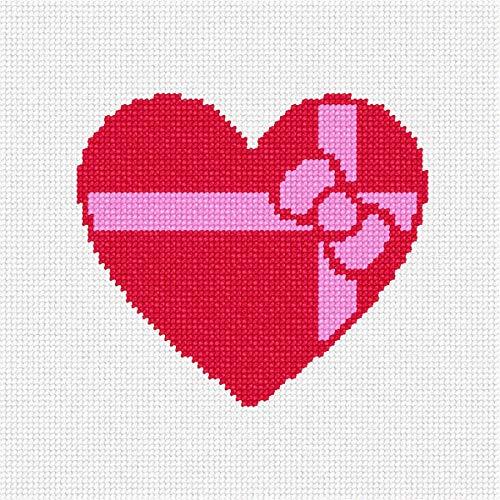 pepita Heart Gift Needlepoint Canvas ()