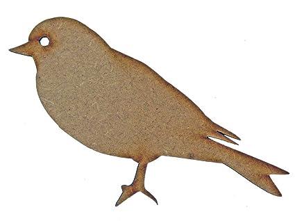 ROBIN Laser Bird cut MDF wood shape craft arts decoration ALL SIZES
