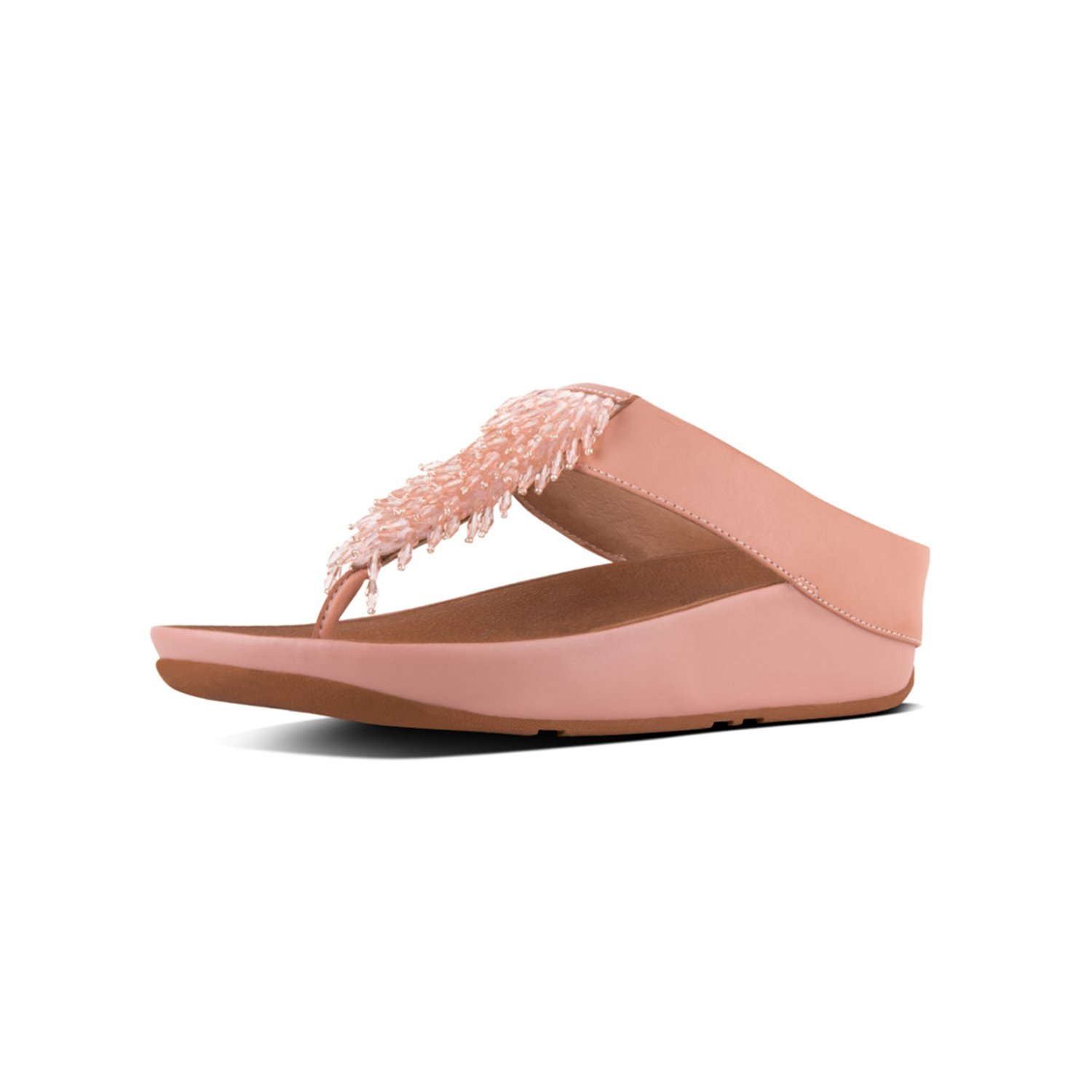 c455b40e536 Galleon - FitFlop Womens Rumba Toe Thong Sandals (Dusty Pink