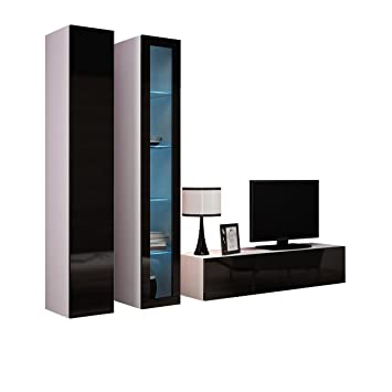 Wohnwand VIGO X Anbauwand Modernes Wohnzimmer set, Mediawand ...