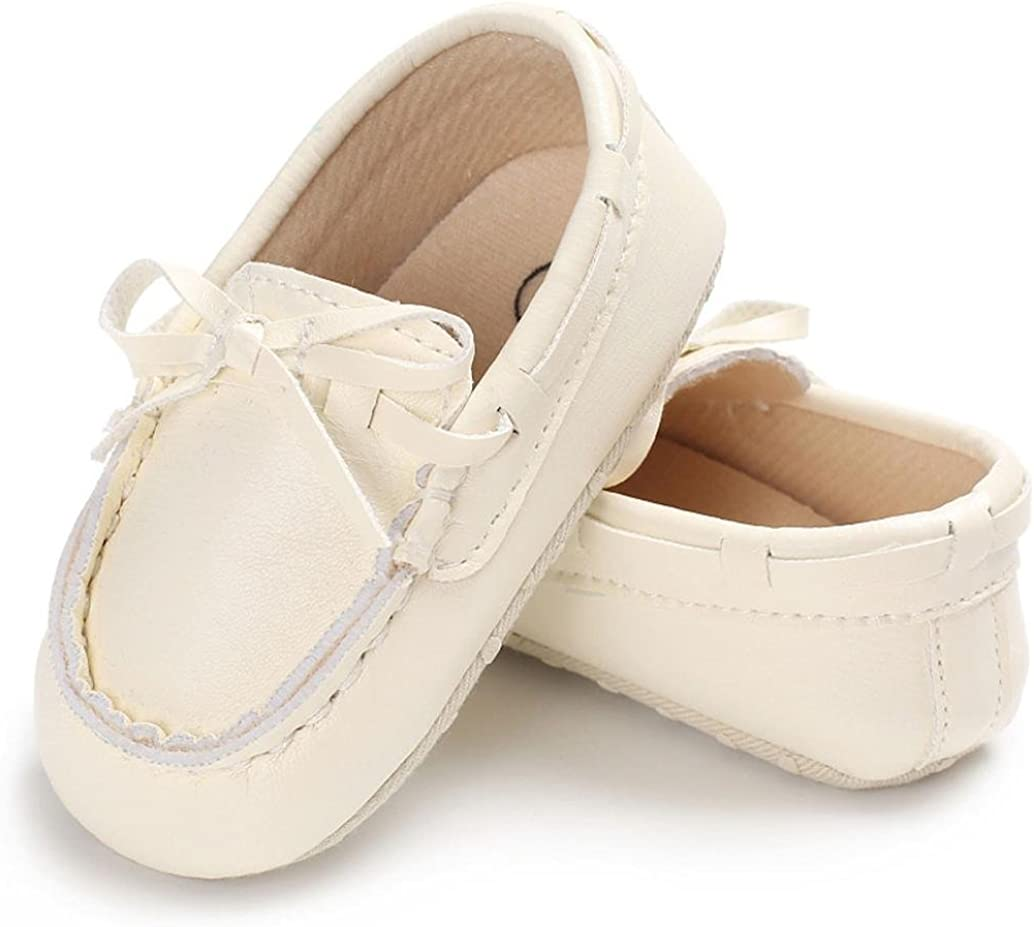 Voberry Baby Toddler Girl Boys Leather Slip-On Loafers Tassel Bowknot Flat Shoes Sneakers