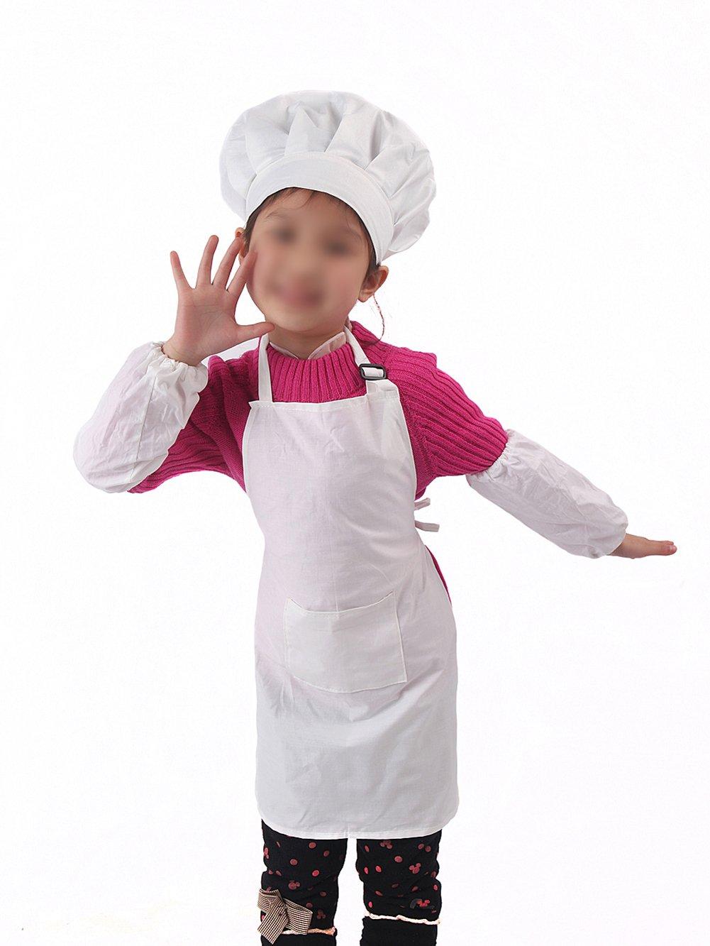 Scrox Ensemble Tablier pour Enfants Enfants/Produits de Mode de Vie pour bébé Outils créatifs Pratique pour Votre Enfant Jouets dans Les Petits garçons et Les Filles Size Tabliers Une Seule