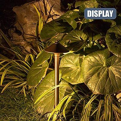 GOODSMANN Low Voltage Landscape Lighting Pro Light Set, Waterproof Low Voltage Lighting with Spike Stand for Garden, Yard, Pathway, Lawn, Driveway Outdoor Lighting 10-Piece 9920-9903-10