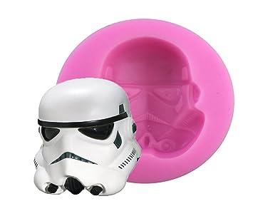 Star Wars máscara Chocolate molde silicona Fondant Moldes para jabón Candy Chocolate Gummies arcilla hacer moldes