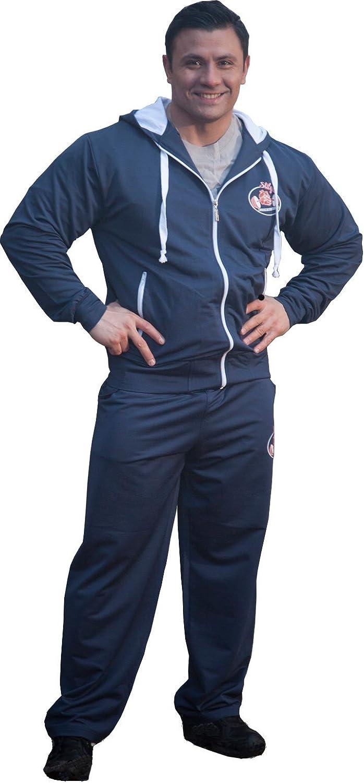 STILYA SPORTSWEAR Herren Trainingsanzug Bodybuilding 6503-5511 dunkelblau