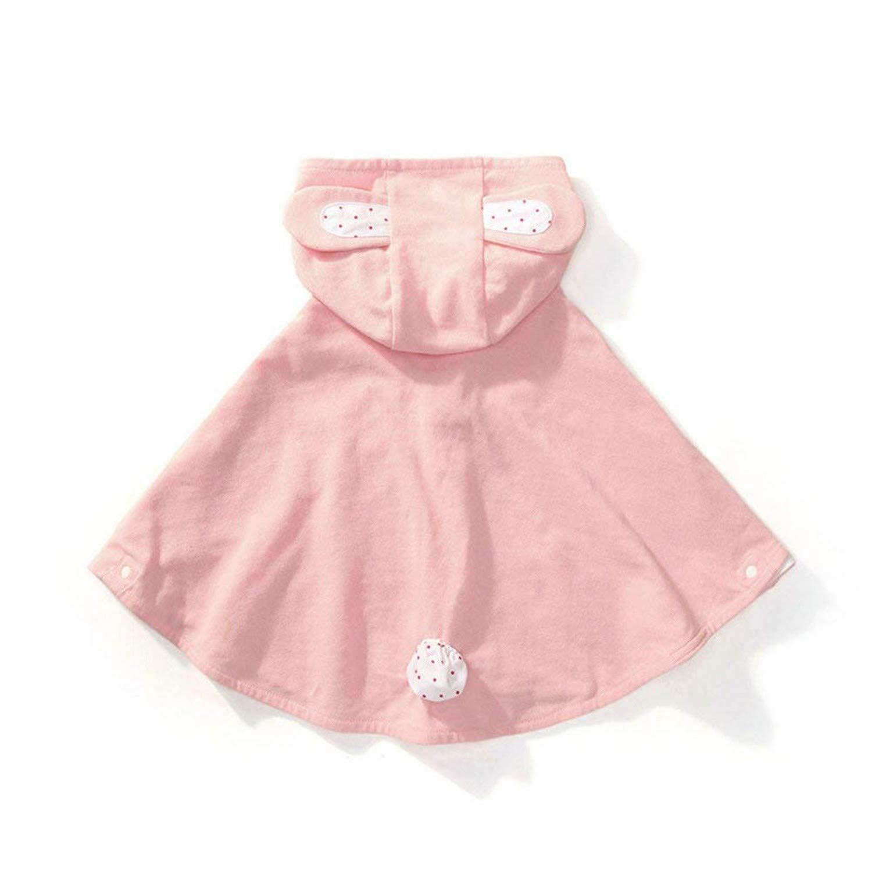 Baby Girl Cloak Kids Warm Poncho Cartoon Hooded Cape Coat Outwear for Fall