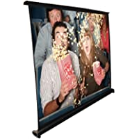 Pyle Portable Projector Screen - Mobile Projection Screen Stand, Lightweight Carry & Durable Easy Pull Out System for Schools Meeting Conference Indoor Outdoor Use, 40 Inch (PRJTP46), White