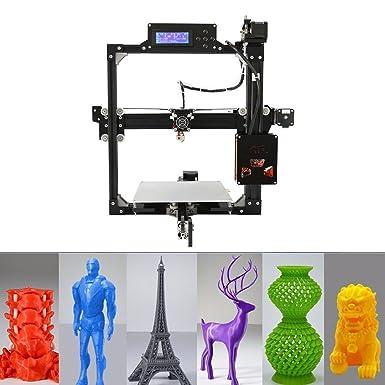 Impresora 3D con cama calentada por pantalla táctil Kit de ...