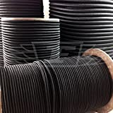 10 Meters, 5mm BLACK ELASTIC BUNGEE ROPE SHOCK CORD TIE DOWN HEAVY DUTY TARPAULIN SECURING SHOCK BUNGEE CORD by Falcon Workshop Supplies