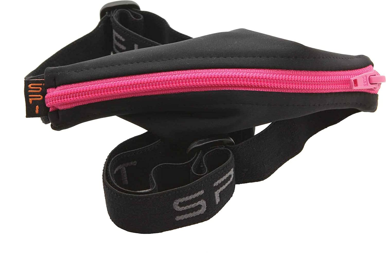 SPIbelt: Large Pocket No-Bounce Running Belt for Runners Hot Pink Zipper Fits iPhone 6+ and Other Large Phones Athletes and Adventurers