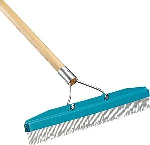 """Carlisle 4575100 Commercial Grade 18"""" Carpet Rake/Groomer"""