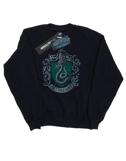 Harry Potter Mujer Slytherin Distressed Crest Camisa De ...