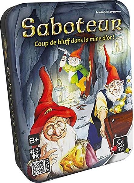 GIGAMIC AMSABO Saboteur - Juego de Cartas (versión Francesa, Idioma español no garantizado): Amazon.es: Juguetes y juegos