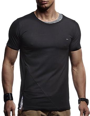 994b41651858 LEIF NELSON Herren trendiges T-Shirt Hoodie Sweatshirt Rundhals Ausschnitt  Kurzarm Longsleeve modernes Basic Shirt Vintage Sweatshirt LN1215  Amazon.de   ...