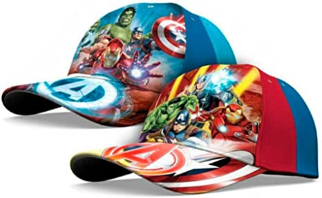Kids Surtidos de Gorra Avengers Marvel T.52-54 Color Azul y Rojo ...