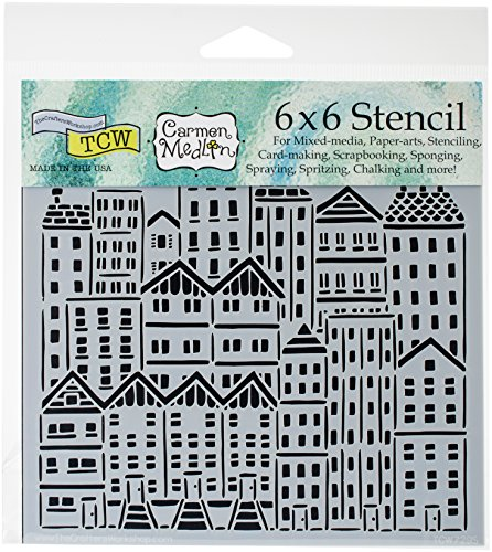 CRAFTERS WORKSHOP TCW729S Template 6X6-City Buildings