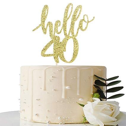 Decoración para tarta de 40 cumpleaños o 40 aniversarios ...