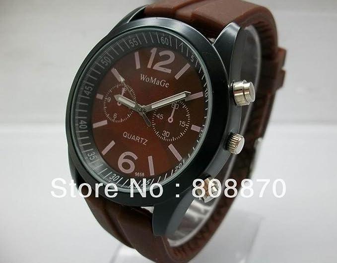 El mundo de la moda de tiempo infinito de cuarzo reloj de silicona bastante la redondez de los grandes relojes de pulsera de cuarzo: Amazon.es: Relojes