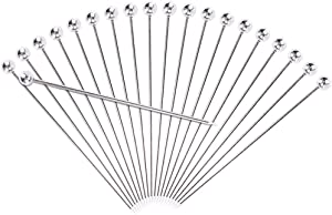 Cocktail Picks, Kmeivol 4 inch Long Toothpicks for Cocktail, 20 PCS Reusable Metal cocktail pick, Food-Grade Stainless Steel Martini Picks, Cocktail Swizzle Sticks Good for Cocktail Garnishes and Food