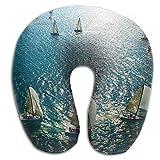 Owen Pullman Travel Pillow Sailboat Game Memory Foam Neck Pillow Comfortable U Shaped Neck Support Plane Pillow