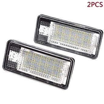 Merssavo 2 Piezas de Luz de Matrícula 18 Bombillas LED Lámparas de Matrícula Traseras Lámparas de