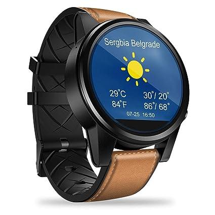 Smartwatch GPS, Zeblaze Reloj 4G THOR 4 PRO Smart Reloj con pantalla de cristal de 1.6 pulgadas GPS/GLONASS Quad Core 16GB ROM 5.0MP Cámara compatible ...