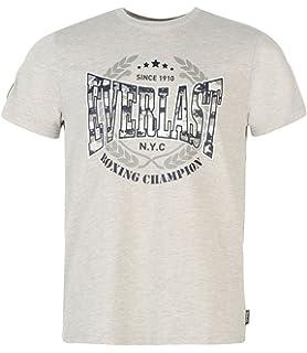 237945f2e66075 Everlast Herren Logo T Shirt Kurzarm Rundhals Kontrast Print Regular ...