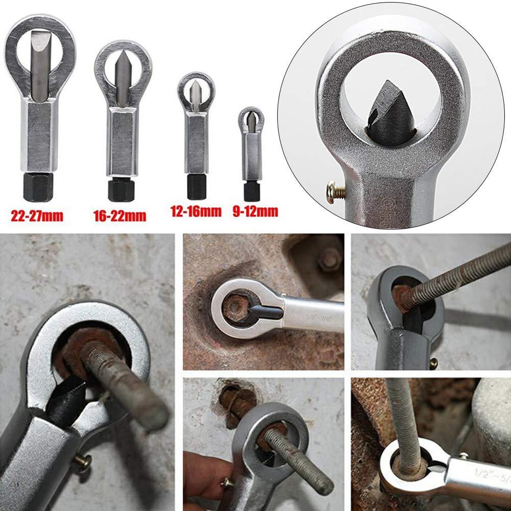 Delleu 1pc Tuerca Divisor Braker 9-12mm//12-16mm//16-22mm//22-27mm Tuerca oxidada Separador de Pernos de la Herramienta Extractor de removedor de Split