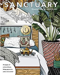 Sanctuary Living Spaces Coloring Book