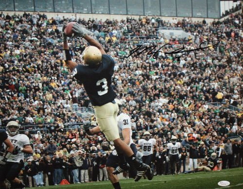 Michael Floyd Autographed 16x20 Catching In Air Photo- JSA W (Signature Air Hockey)