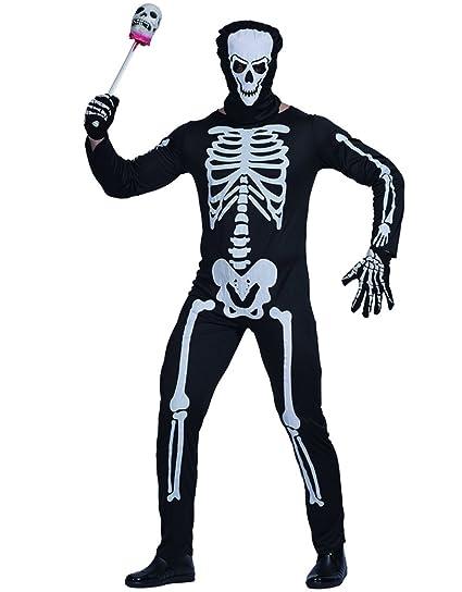 EraSpooky Esqueleto Hombre Comedia Novedad Disfraz Halloween Skeleboner Talla única
