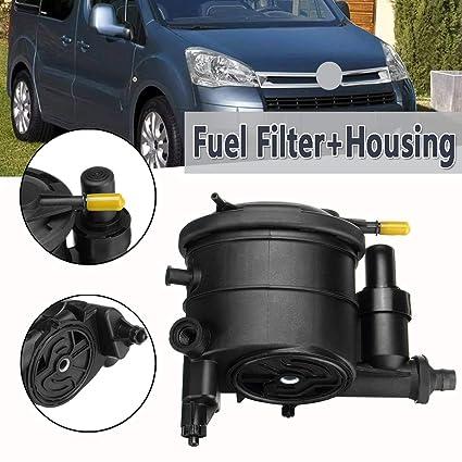 Amazon.com: Filtro de combustible de coche + carcasa para ...