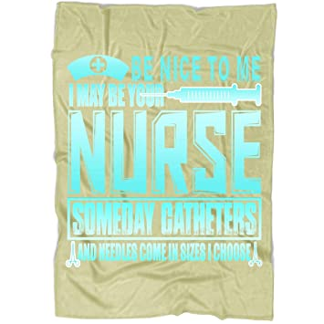Amazon.com: OAKSTORE Be Nice to Me Blanket, Bedding Fleece ...
