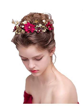 Amazon Handmade Flower Side Bridal Headpiece Wedding