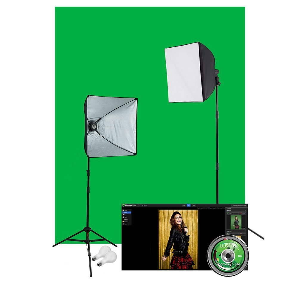 Westcott 401N Illusions uLite Green Screen Photo Lighting Kit by Westcott