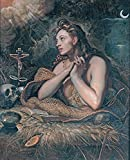 """Penitent Magdalene - Domenico Tintoretto - Canvas Prints 12"""" by 15"""" Unframed"""