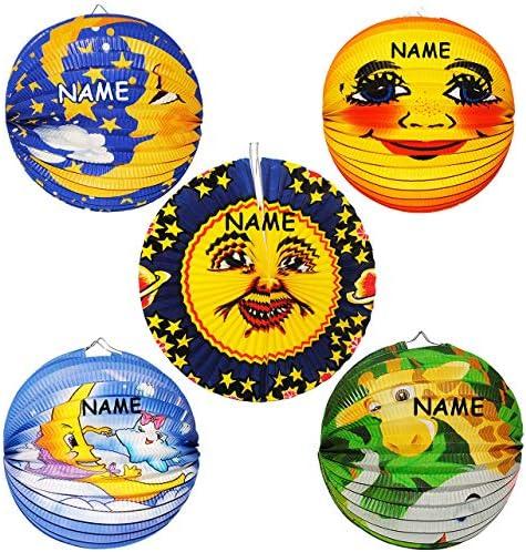 Mond /& Sterne alles-meine.de GmbH Laterne // Lampion Figuren f/ür Kinder Papierlaterne M/ädchen Ju.. kuscheln f/ür Laternenumzug Laternen Lampions RUND aus Papier
