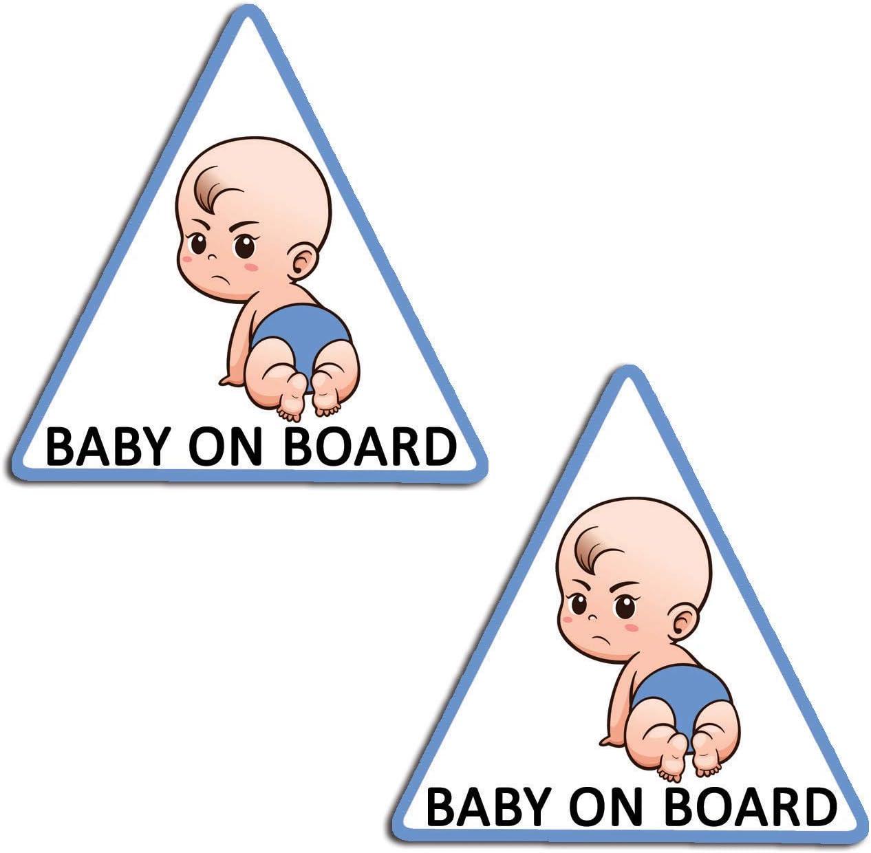 Adesivo Beb/è a bordo da bimba,/collezione Babyfun regalo sorpresa 9cm x 16,5 cm Artstickers/® 10/colori a scelta