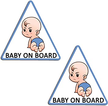 2 x Vinyl Aufkleber Baby an Bord on Board Autoaufkleber Kind Sicherheit Kinder